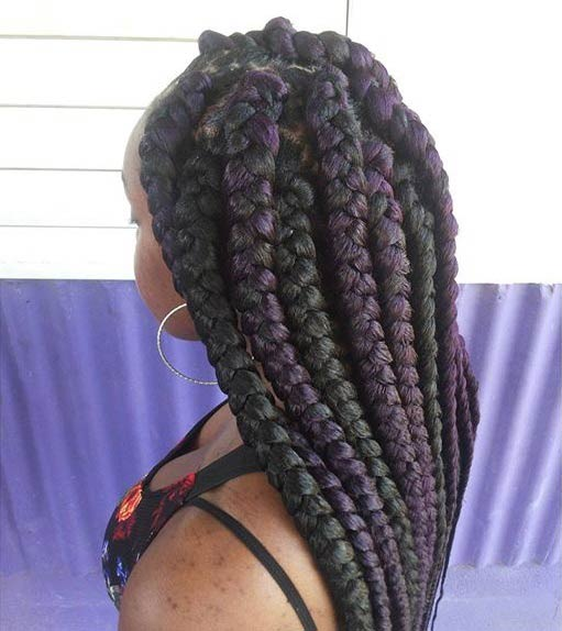 21 Best Jumbo Box Braids Hairstyles Page 6 Foliver Blog