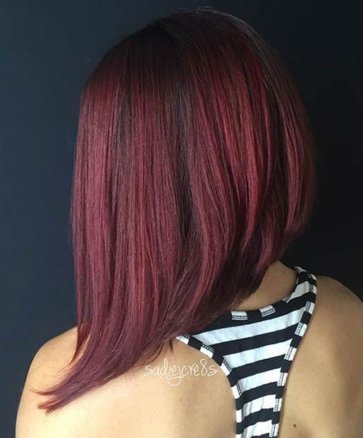 21 Amazing Dark Red Hair Color Ideas \u2013 Page 6 \u2013 Foliver blog