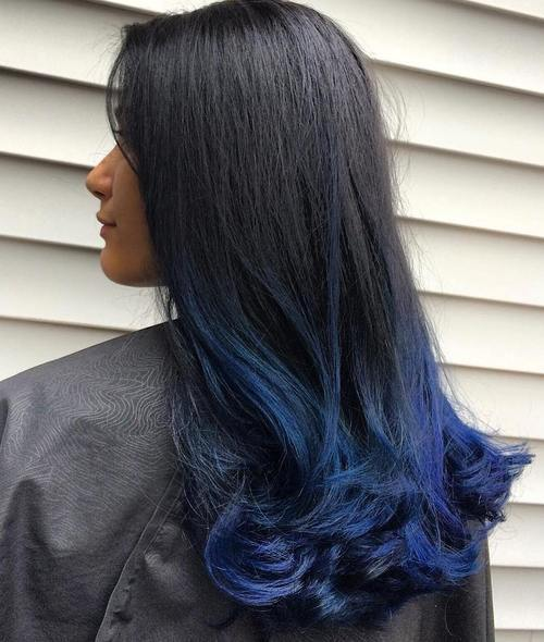 gimme the blues bold blue highlight hairstyles � page 6