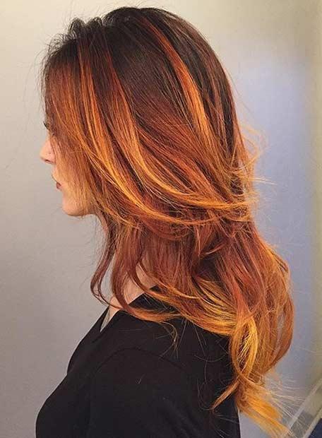 7 Fire Hair Color Idea