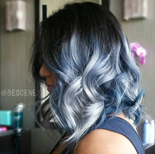 Gimme The Blues Bold Blue Highlight Hairstyles Page 7