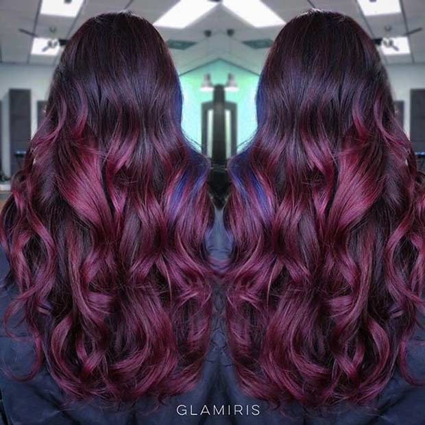 21 Amazing Dark Red Hair Color Ideas Page 8 Foliver Blog