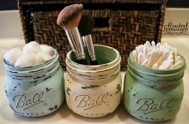 DIY Rustic Mason Jar Organizer|23 DIY Crafts With Mini Mason Jars