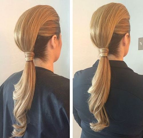 1 two trick ponytail faux hawk