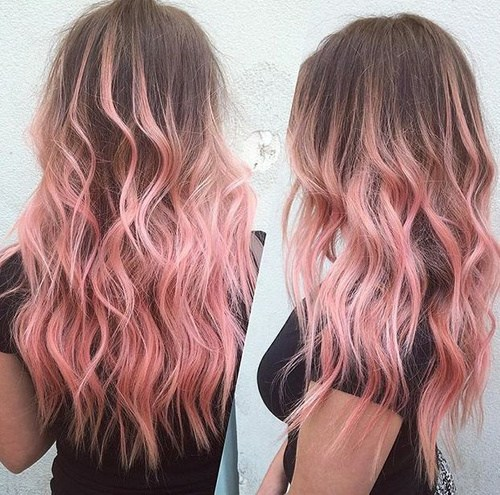 10 ripple effect of pastel pink highlights