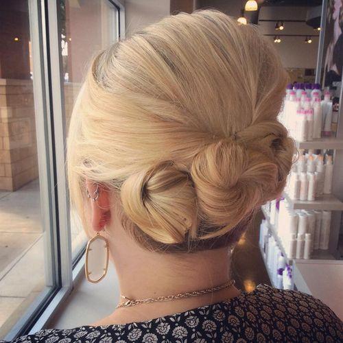 10-three-buns-updo-for-short-hair