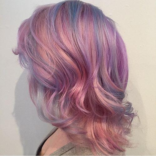 13 pastel lavender and pink locks