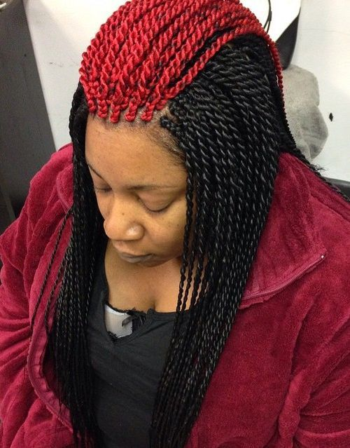 14-red-and-black-melange-Senegalese-twists