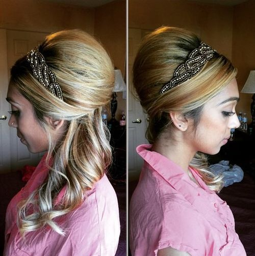 15-honey-blonde-beehive-with-a-headband