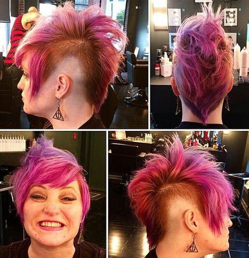 16 pink pixie princess faux hawk