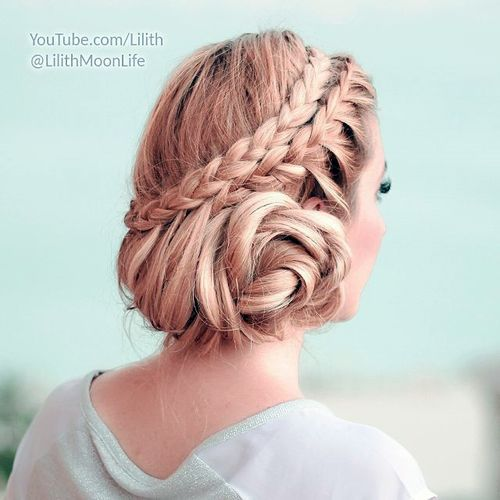 19-two-braids-messy-updo