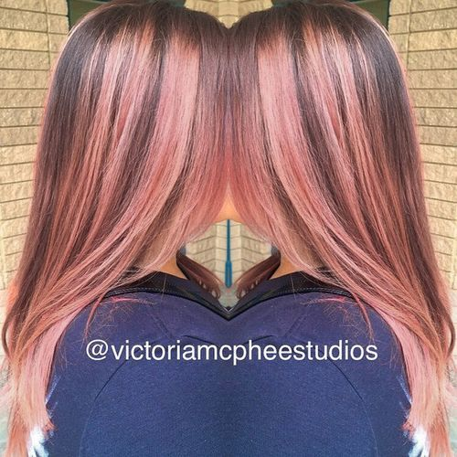 2 pretty peachy highlights