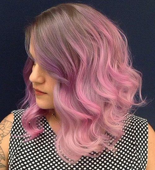 3 beautiful purple fade