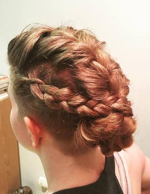3-braids-into-bun-undercut-hairstyle