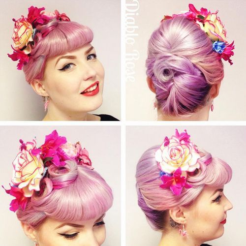 3-lavender-beehive-bun-with-flowers