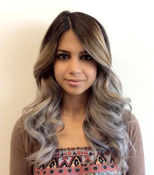 6-Hollywood-waves-and-brown-to-gray-ombre