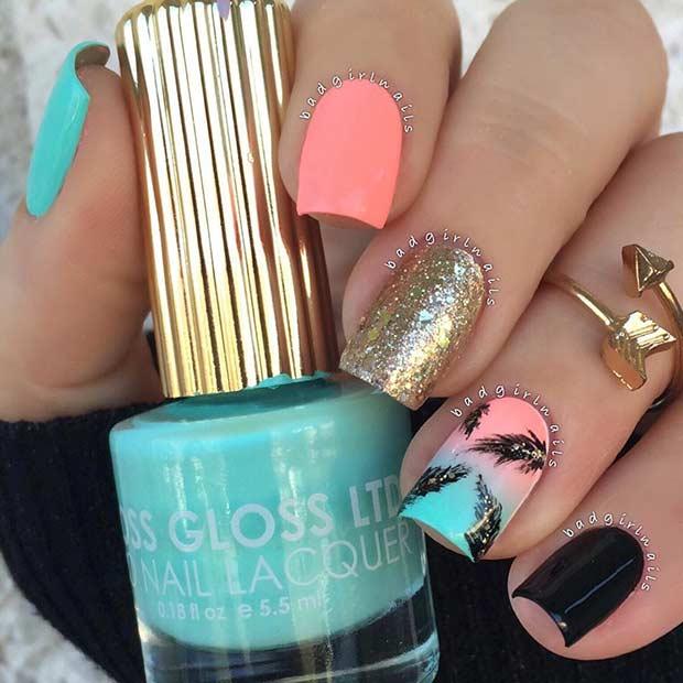 1 Bright Summer Nail Design 2016