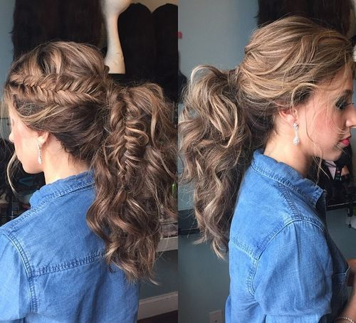 1 ponytail with a braided element