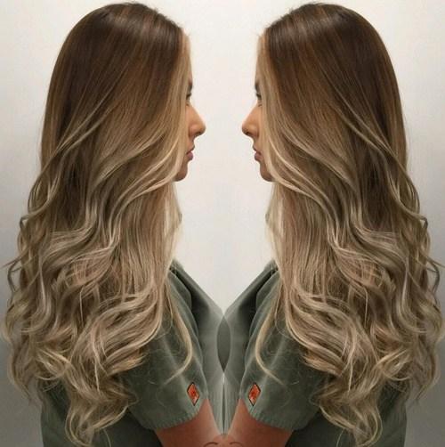 1 soft brown blonde waves