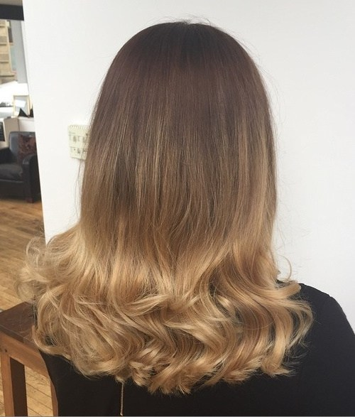 10 color into curls with subtle ombre