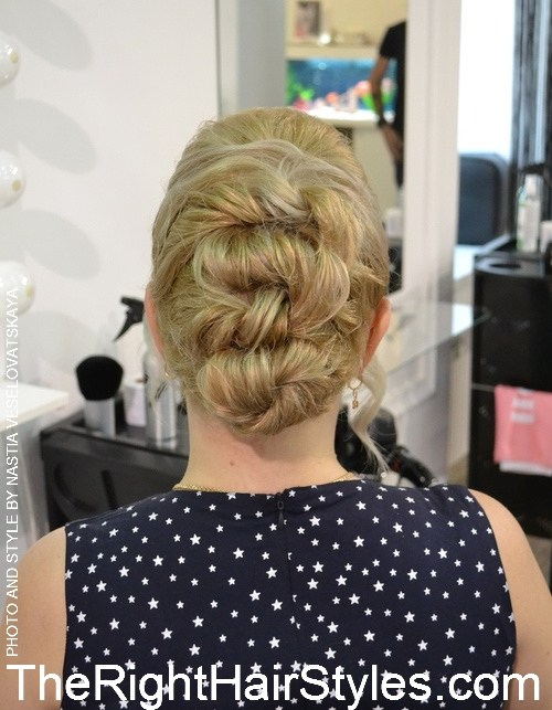 12 twisted updo with a bouffant