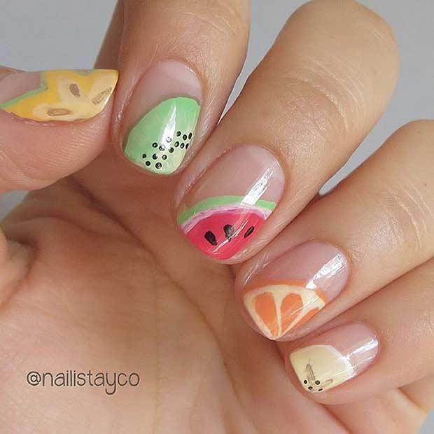 14 Cute Fruit Nail Design for Summer