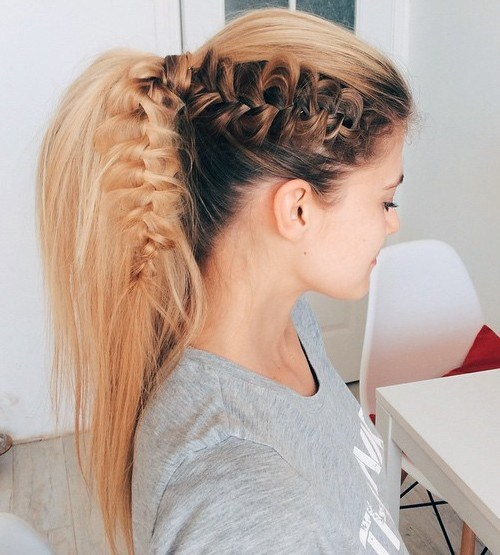 14 brown and blonde lacy braid