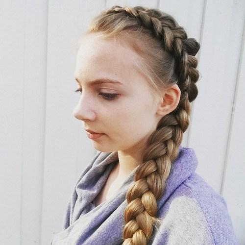 14 dutch side braid