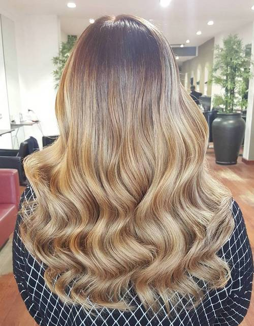 14 long honey blonde hair with dark roots