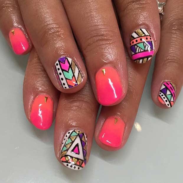 15 Summer Tribal Nail Design for Summer