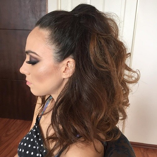 15 half ponytail for thick hair
