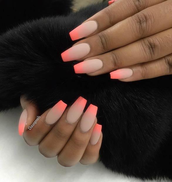 16 Matte Summer Nail Design for Long Nails