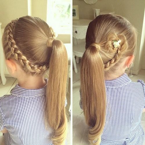 16 braid with mini hair flower