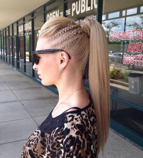17 pompadour ponytail for straight hair