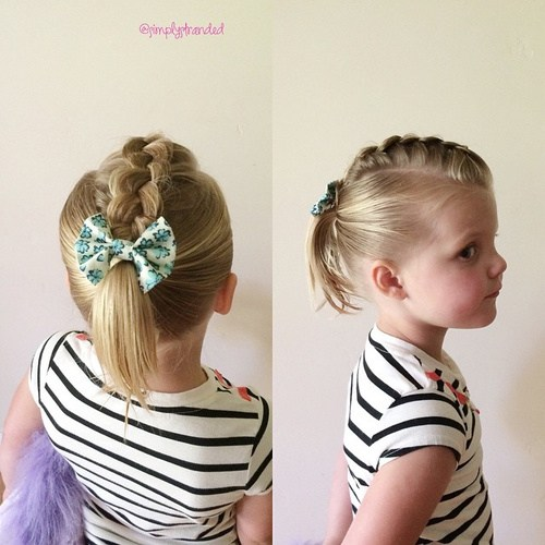 17 top braid with bow and ponytail