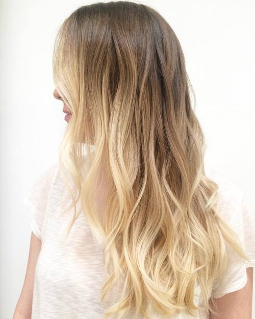 18 blonde wavy ombre hair