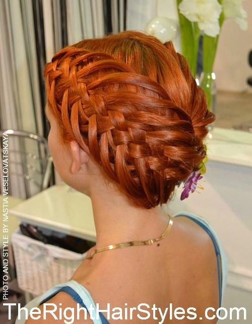 18 creative braided updo for medium hair