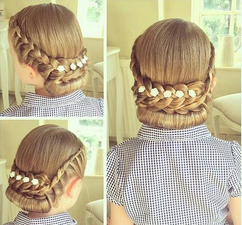 18 lace rolled updo