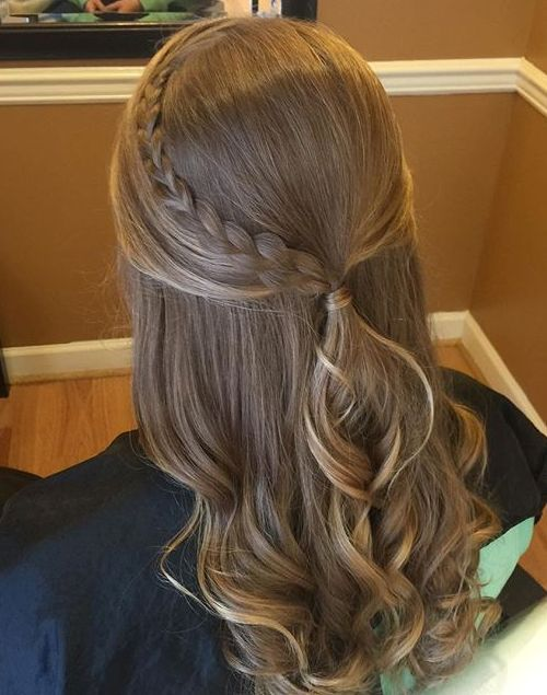 19 half ponytail with a braid