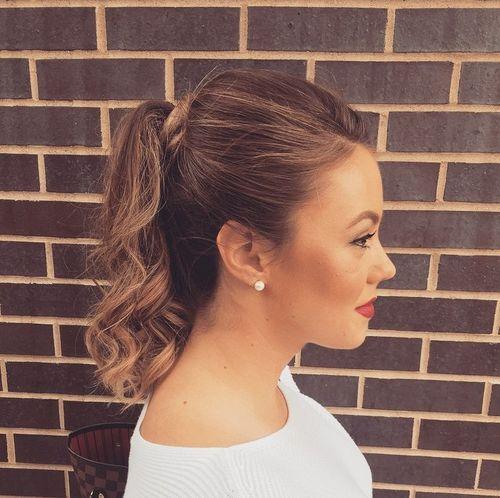 19 high ponytail for shorter hair