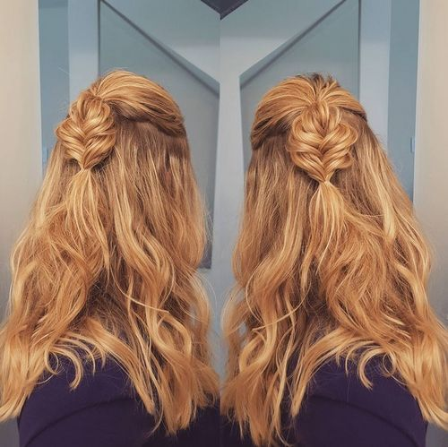 2 braided boho locks