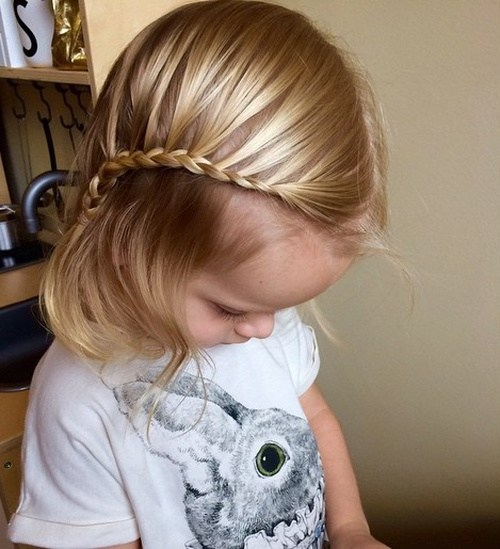 2 side swept bangs with french braid