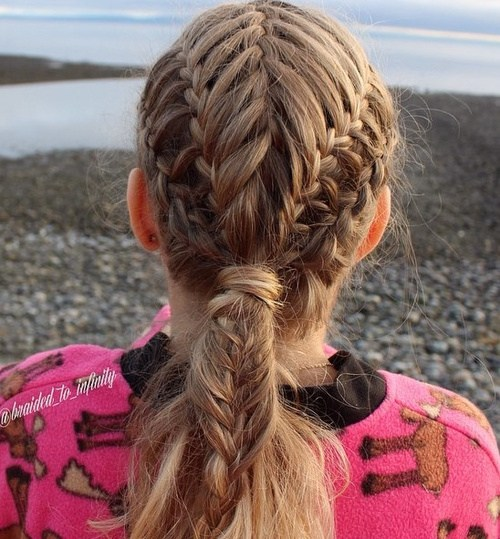 20 braided hairstyle with low ponytail