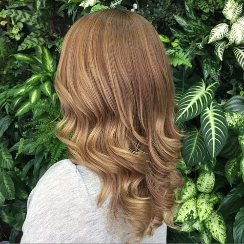 20 medium light copper curls