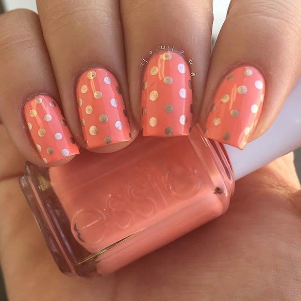 23 Summer Polka Dot Nails