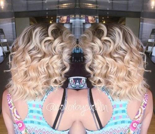 27 sweet blonde curls