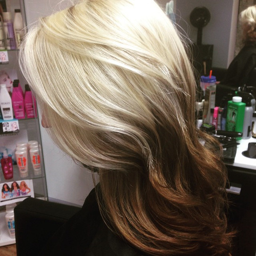 40 glamorous ash blonde and silver ombre hairstyles page 28 28 dramatic blonde to brown urmus