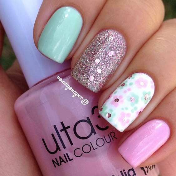 35 bright summer nail designs page 3 foliver blog 3 bright flower nail design for summer prinsesfo Choice Image