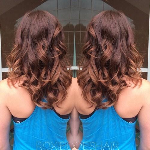3 medium length curls
