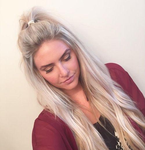 3 sexy white blond weave